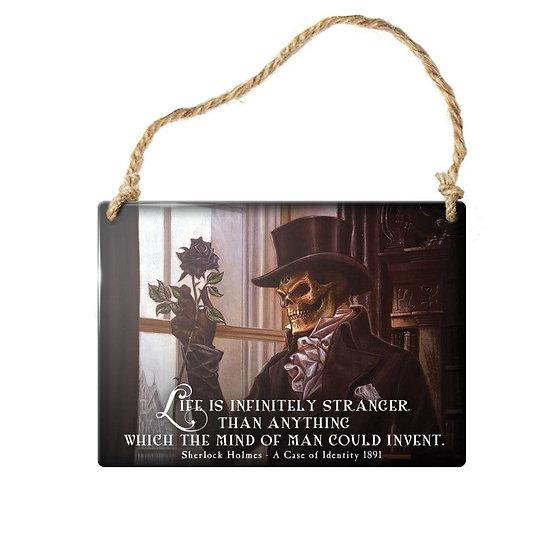 Sherlock Holmes 'Stranger Life' Gothic Mini Door Sign