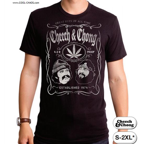 Cheech & Chong T-Shirt / Cheech & Chong 420 Proof Pot Leaf Tee / Greatest Hits
