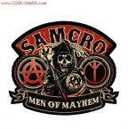 Men of Mayhem Samcro Distressed Sons of Anarchy Sticker