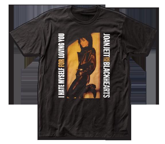 Joan Jett & the Blackhearts T-Shirt /  I Hate Myself for Loving You Rock Tee
