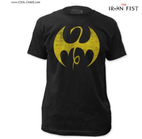 Iron Fist T-Shirt / Iron Fist Gold Dragon Shirt / distressed print