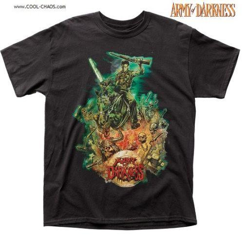 Army of Darkness Movie Poster T Shirt / Living Dead Tee