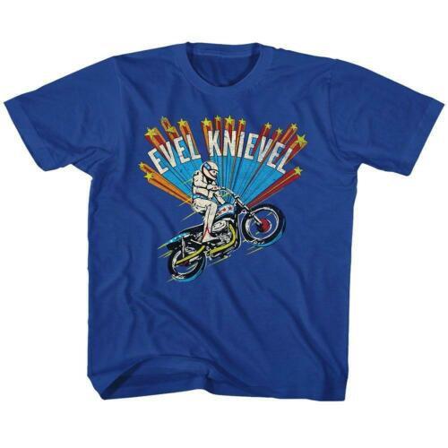 Evel Knievel Kids T-Shirt / 70s Throwback Motorcycle Toddler Tee