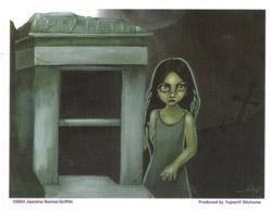 Empty Tomb Goth Girl Ghoul Sticker