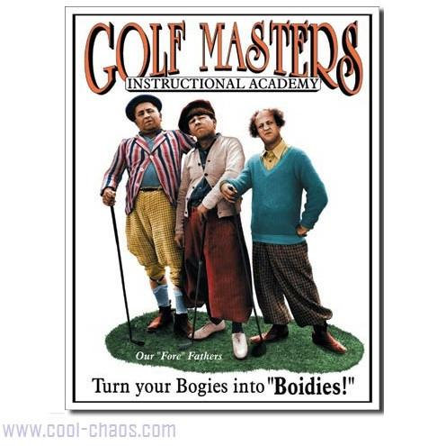 The Three Stooges Golf Tin Sign