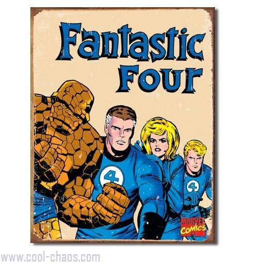 Retro-style Fantastic Four Tin Sign