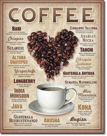 I Heart Coffee Tin Sign