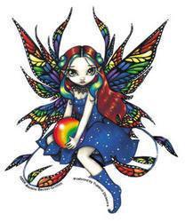 Rainbow Bauble Fairy Sticker