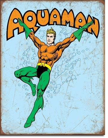 Aquaman Comic Book Tin Sign