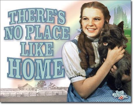 There's No Place Like Home Wizard of Oz Sign