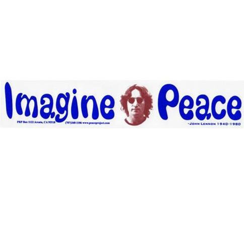 Imagine Peace John Lennon Bumper Sticker