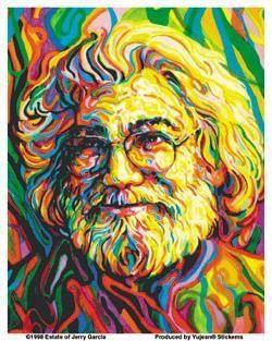 Tribute to Jerry Garcia Sticker