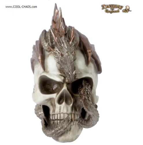 Dragon Skull Statue, Alchemy Gothic of England Dragon Keeper's Skull