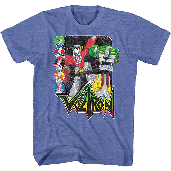 Voltron T-Shirt / Voltron Defender of the Universe with Pilots Cartoon Tee