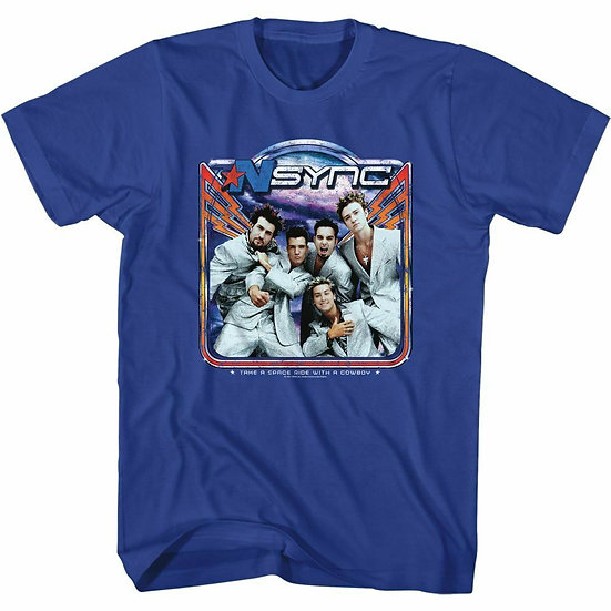 'NSYNC T-Shirt / 90S THROWBACK N'SYNC TAKE A SPACE RIDE WITH A COWBOY' ROCK Tee