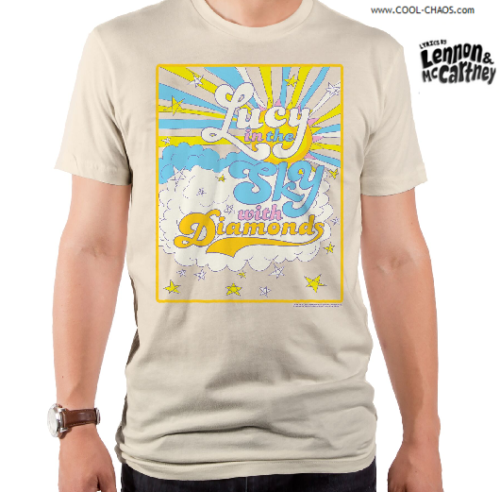 Lyrics By Lennon & McCartney T-Shirt / Beatles 'Lucy in the sky' Men's Tee