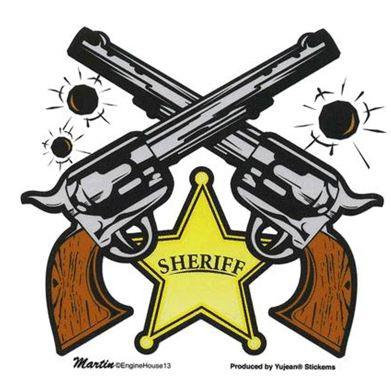 Sheriff Old West Gun Sheriff Sticker