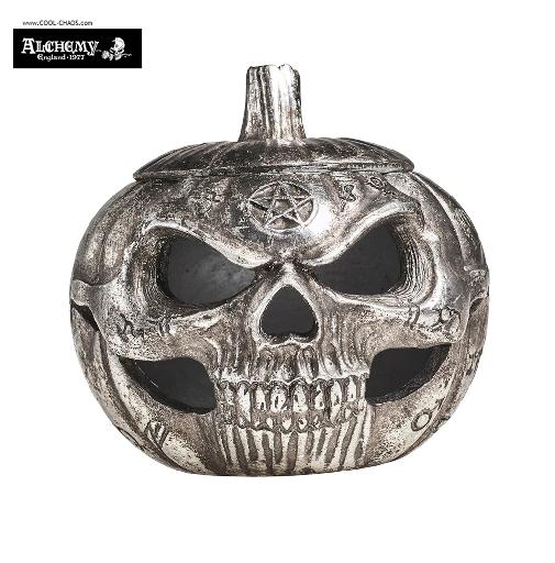 Pumpkin Skull Statue / Halloween Decoration