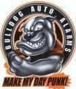 Tuff Punk Bulldog Gag Gift Car Alarm Stickers Set