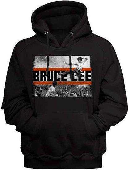 Bruce Lee Hoodie / Bruce Lee Flying Kick Hooded Sweatshirt