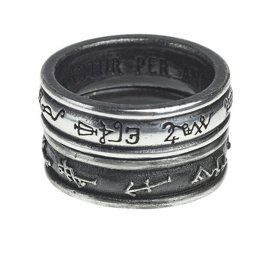 Pewter 'Black Demon' vs. 'White Angel' Ring