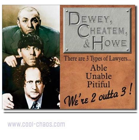 The Three Stooges Lawyer Sign