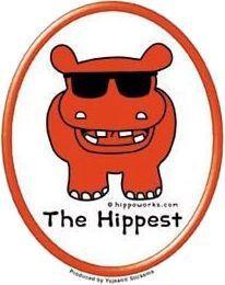 Hippo Hipster Hippy Sticker