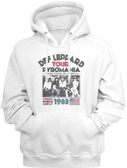 Def Leppard Hoodie / 1983 Pyromania Tpur Def Leppard Hooded Sweatshirt