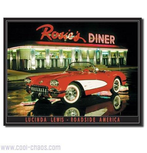 Rosie's Diner Vintage Corvette Sign