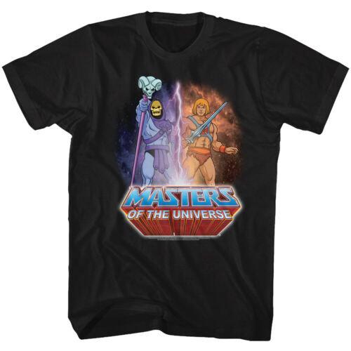 MASTERS OF THE UNIVERSE T-SHIRT / SKELETOR EVIL vs. HE-MAN GOOD CARTOON Tee