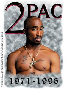 Legends of Rap Tupac Sticker