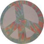 Pastel Rainbow Peace Sticky Notes Pad