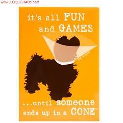 Dog in a Cone Magnet