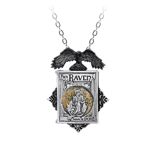 Unique Edgal Allan Poe's 'The Raven' Pewter Locket by Alchemy Gothic 1977