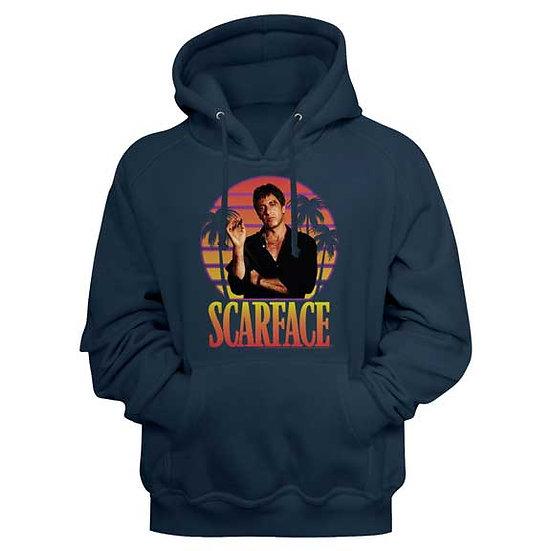 Scarface Hoodie / 70's Scarface Miami Palm Trees Hooded Sweatshirt