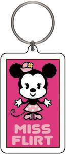 Miss Flirt Minnie Mouse Keychain