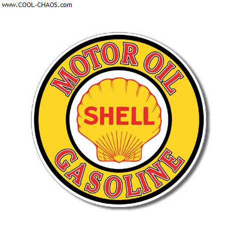 Shell Sign / Round Shell Gas Motor Oil Tin Sign