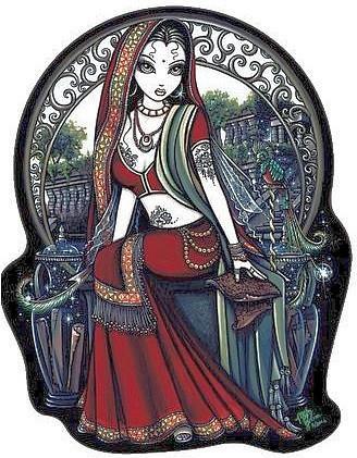 Gothic Art Gypsy Fairy Sticker