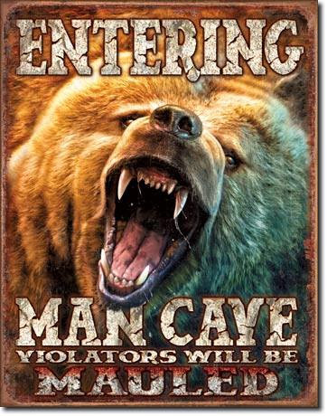 Grizzly Bear Man Cave Sign
