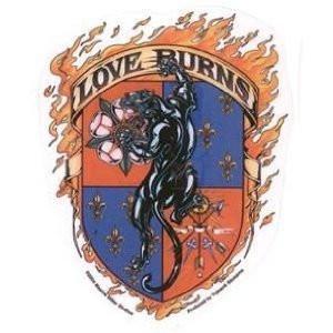 Love Burns Black Panther Sticker
