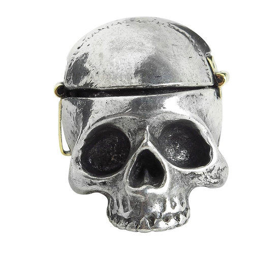 Pewter Skull Stash Tin / Pill Box from Alchemy Gothic 1977