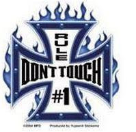 Don't Touch Car Alarm Stickers