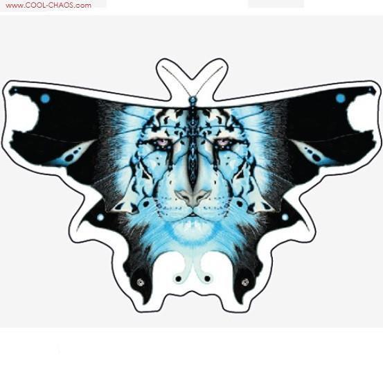 Butterfly Snow Leopard Sticker