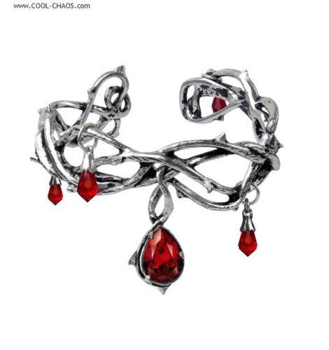 Thorns Passion Red Crystal Bracelet, Romantic Cuff Bracelet,Unique Valentine's