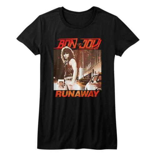 Bon Jovi T-Shirt / 80's Retro Jon Bon Jovi 'Runaway' Juniors Tee