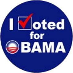 I voted for Obama Large Button