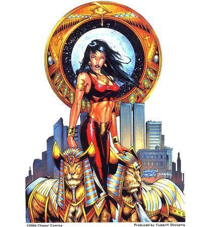Lioness Egyptian Princess Pin-up Sticker