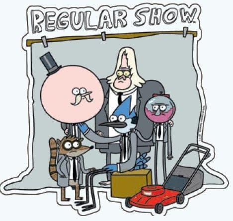 Regular Show Car Magnet - Group