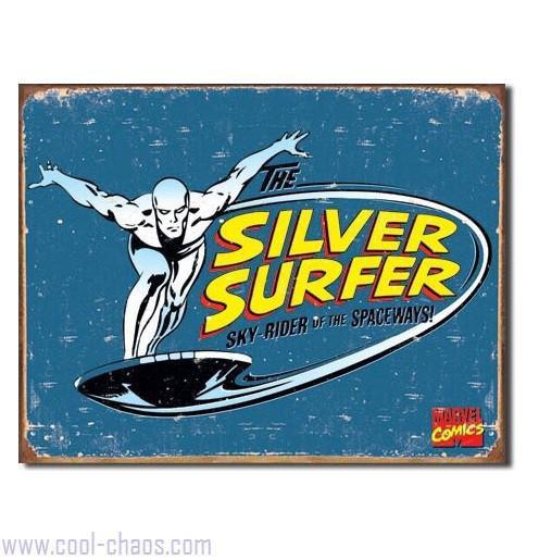 Retro-style Silver Surfer Tin Sign