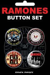 Ramones Buttons Set